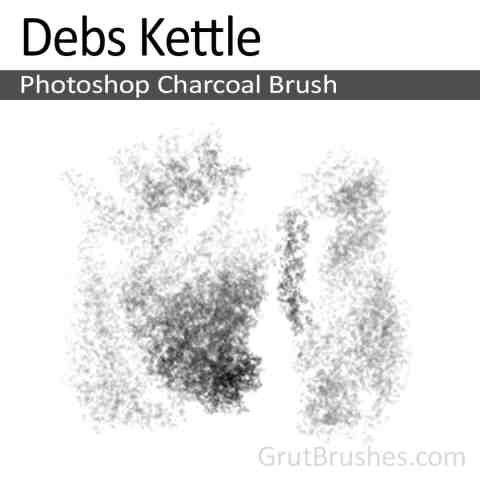 Photoshop Charcoal Brush for digital artists 'Debs Kettle'
