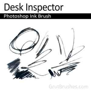 'Desk Inspector' Photoshop Ink Brush for digital artists