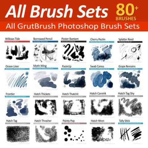 All Photoshop brush sets from GrutBrushes
