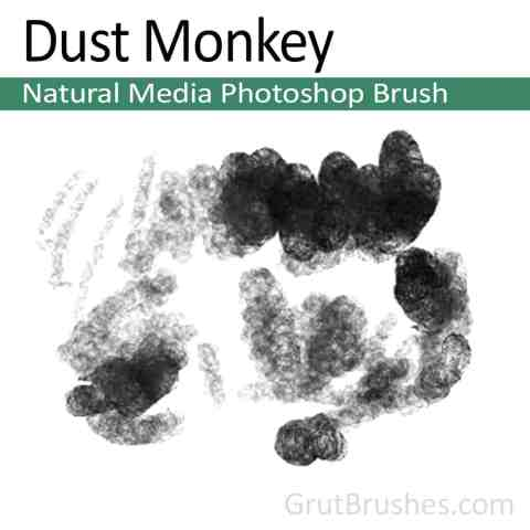 'Dust Monkey' Photoshop Natural Media Brush
