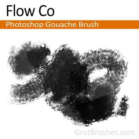 Photoshop Gouache Brush for digital artists 'Flow Co'