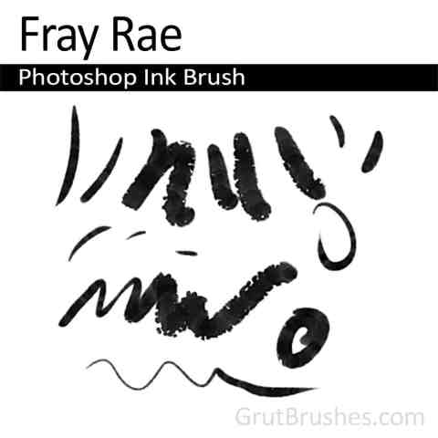 Photoshop Ink Brush for digital artists 'CFray Rae'