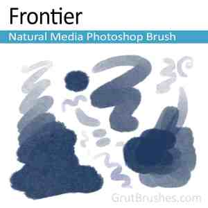 'Frontier' Photoshop watercolor brush for digital painting