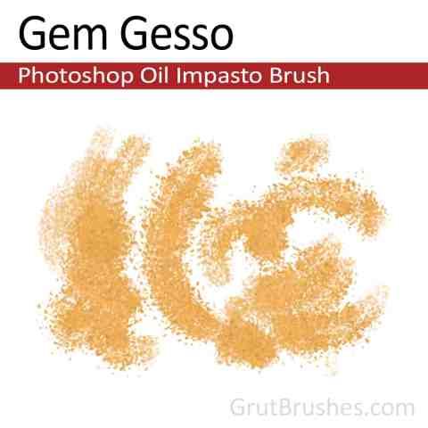 'Gem Gesso' Photoshop Impasto Oil Brush for digital artists
