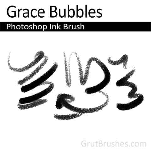 Drawing with the 'Grace Bubbles' Photoshop Ink Brush
