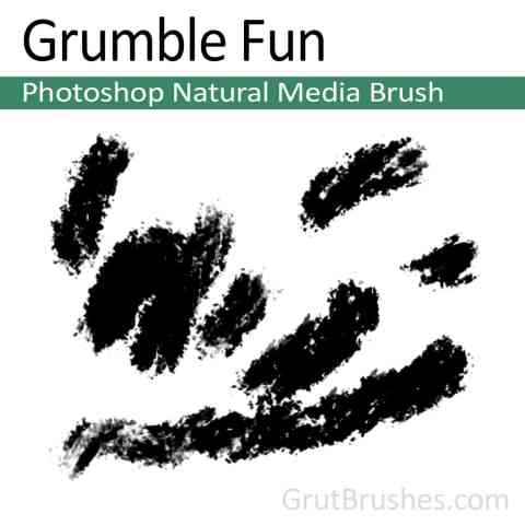 Photoshop Natural Media Brush for digital artists 'Grumble Fun'