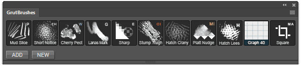 GrutBrushes installed into the GrutBrushes plugin panel