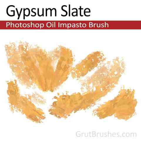 'Gypsum Slate' Impasto Oil Photoshop Brush for digital artists