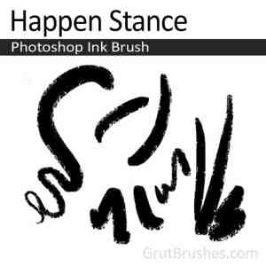 digital Ink pressure sensitive Photoshop Ink brush toolset 'Happen Stance'