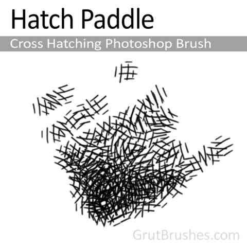 Photoshop Cross Hatching Brush 'Hatch Paddle'