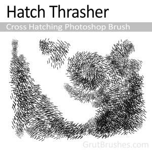 Pressure sensitive dynamic cross hatching Photoshop brush