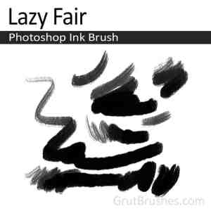 Lazy Fair a realistic, responsive Ink Photoshop brush for digital artists.