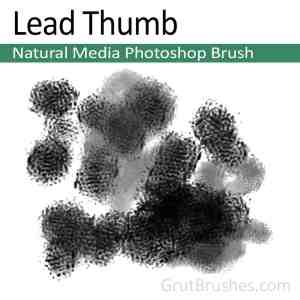 'Lead Thumb' Photoshop Natural Media Brush digital artist's toolset