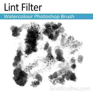 'Lint Filter' Photoshop Watercolor Brush for digital artists