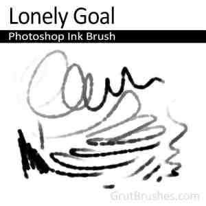 Photoshop Ink Brush 'Lonely Goal'
