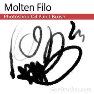 'Molten Filo' Photoshop Oil Brush digital artist's toolset