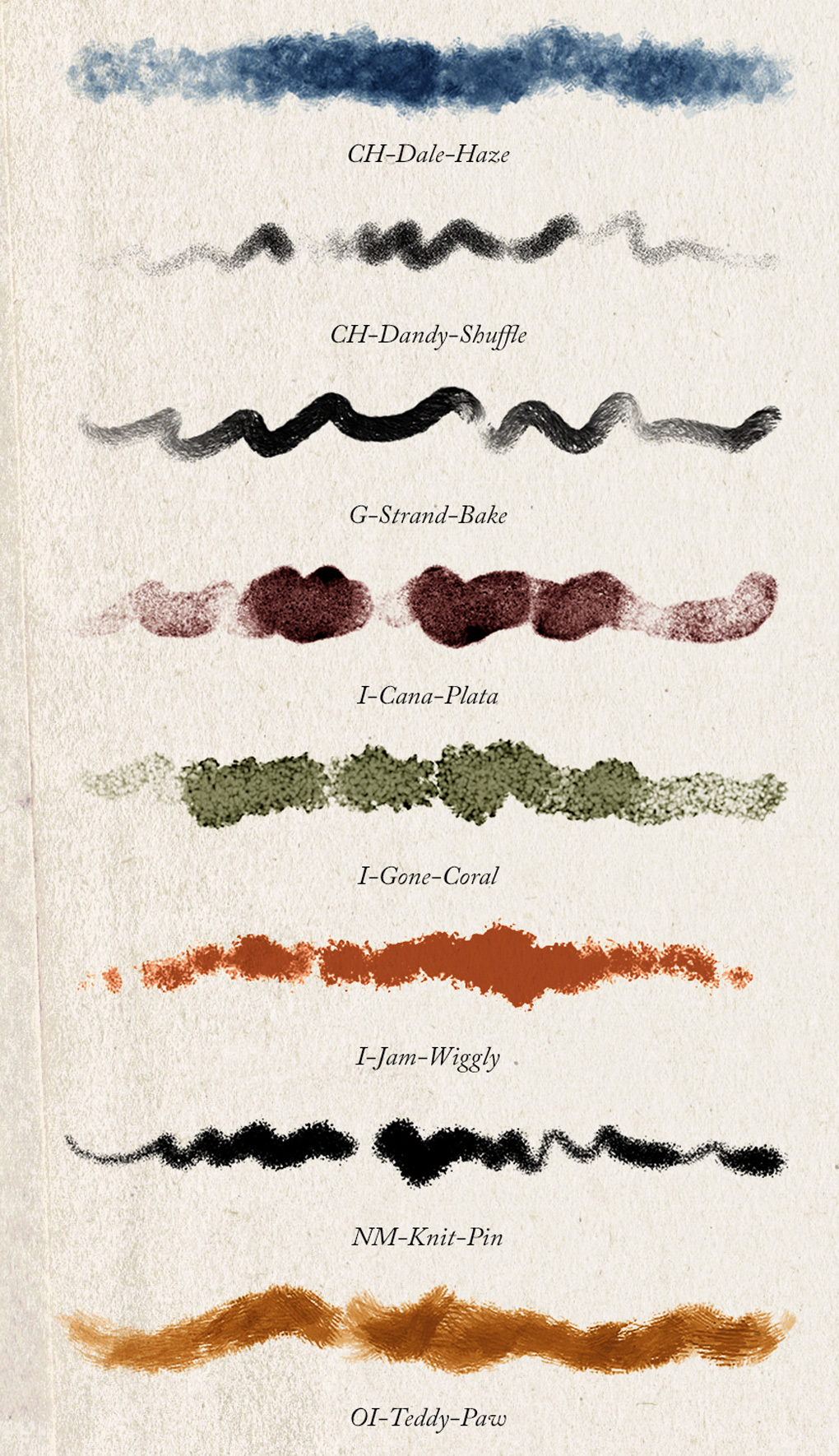 Some of the new Photoshop brushes published in May 2016