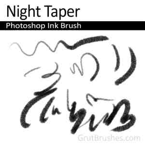 Photoshop Ink Brush toolset 'Night Taper' for digital artists