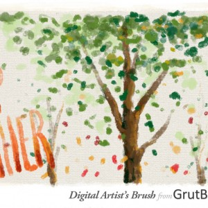 Digital oil painting with digital oil brush from GrutBrushes.com