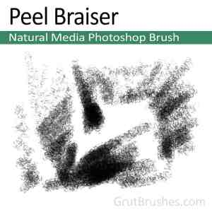'Peel Braiser' Photoshop Charcoal Brush for digital artists