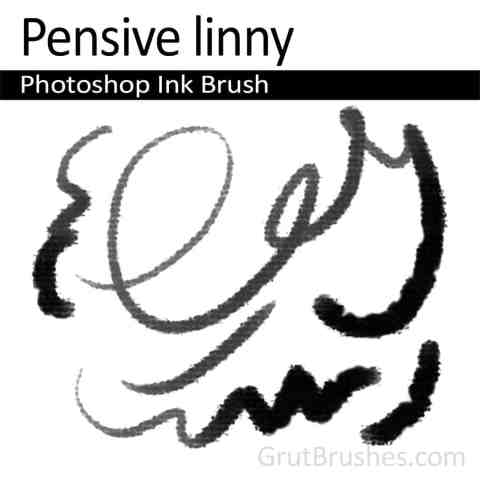 Photoshop Ink Brush 'Pensive Linny'