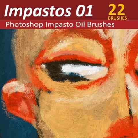 Photoshop Impasto oil brushes
