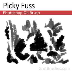 """Picky Fuss"" Realistic Photoshop oil brush"