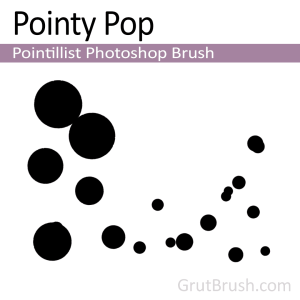 Dynamic pointillist Photoshop brsuh