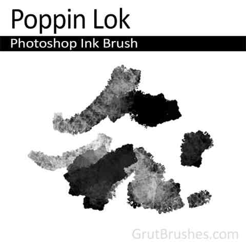 Photoshop Ink Brush for digital artists 'Poppin Lok'