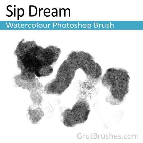 Photoshop Watercolor Brush 'Sip Dream'