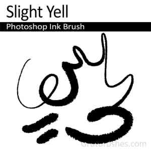 Photoshop Ink Brush 'Slight Yell'