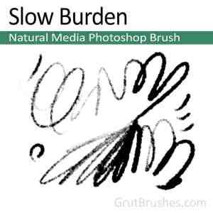 'Slow Burden' Photoshop Natural Media Brush for digital artists