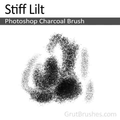 Photoshop Charcoal Brush 'Stiff Lilt'