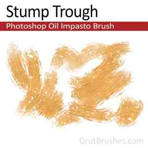 'Stump Trough' Impasto Oil Photoshop Brush for digital artists