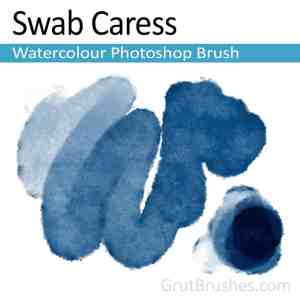 """Swab Caress"" real watercolour Photoshop brush for digital painting from Grutbrushes.com"