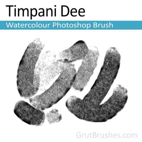 Brush strokes Painted with the 'Timpani Dee' Photoshop Watercolour Brush digital artist's toolset
