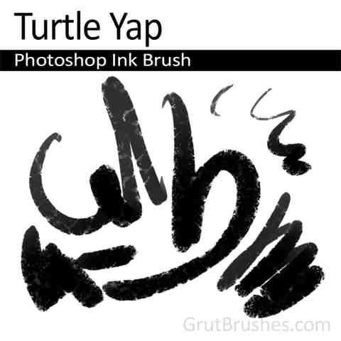 Photoshop Ink Brush 'Turtle Yap'