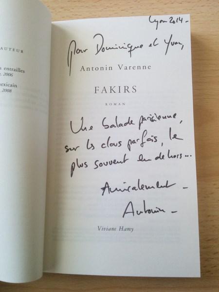 Antonin Varenne Fakirs