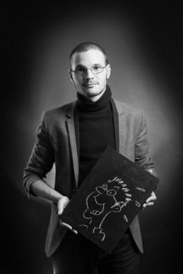 Michael Mention pedant le salon Polars du Sud à Toulouse en 2013