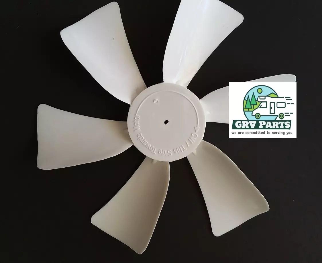 Ventmate 65485 White 6 Replacement Ventline//Jensen Fan Blade with 0.125 Round Bore