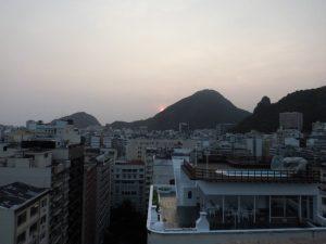 Solnedgang fra hotellterassen