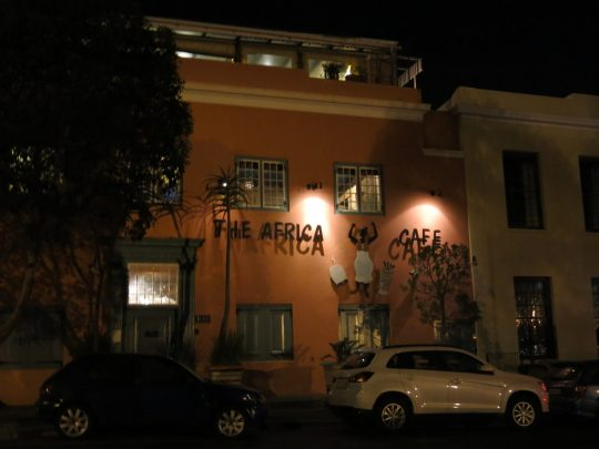 134. The Africa cafe by night
