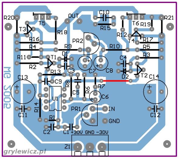 Płytka wzmacniacza MOSFET