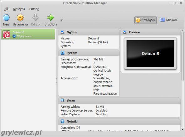Virtualbox - maszyna wirtualna