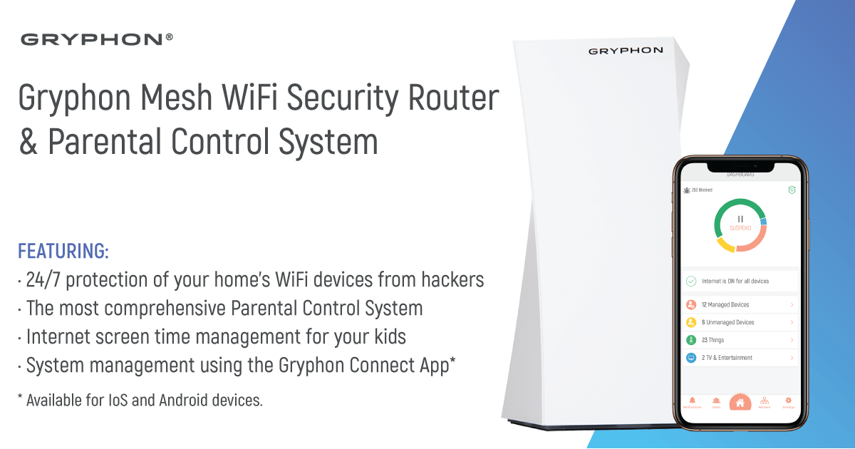 Gryphon Mesh WiFi Security Router and Parental Control System