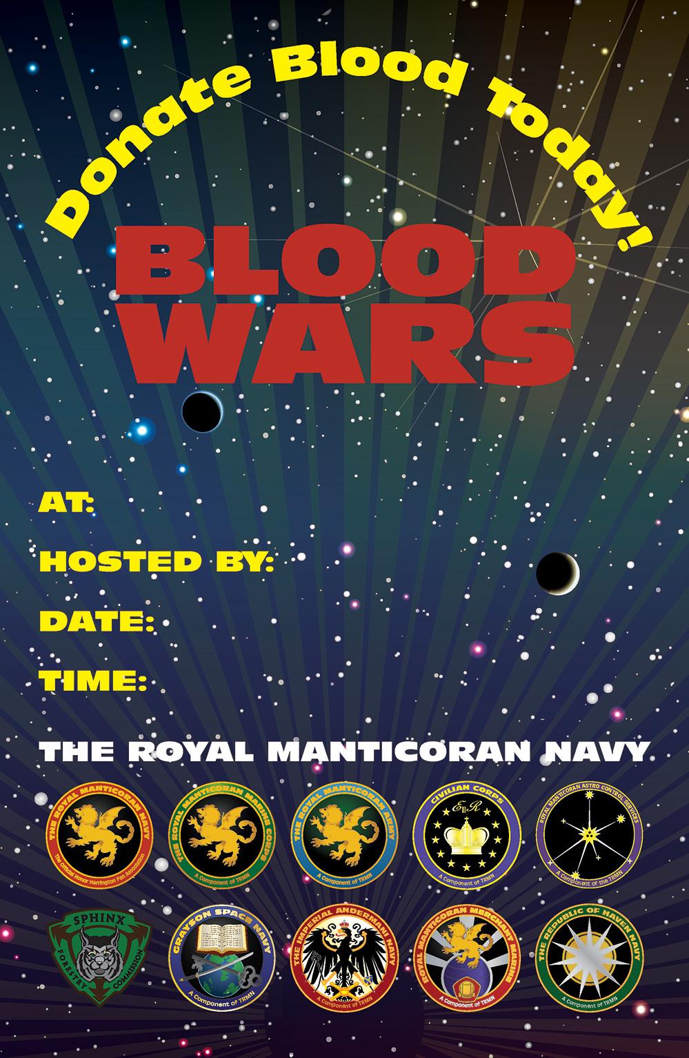 Blank TRMN Blood Drive poster