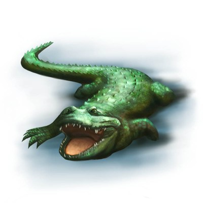 Ol' Chomper, Monstrous Crocodile, a character from Familiar Mythic Arena
