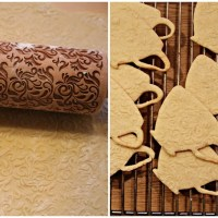Små møre kaker med mønster