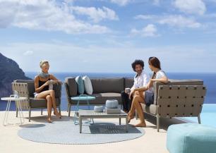 Meble ogrodowe CONIC Lounge. Designed by Foersom & Hiort-Lorenzen