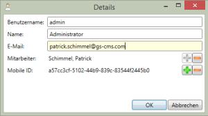 Benutzerverwaltung-Benutzer-Details